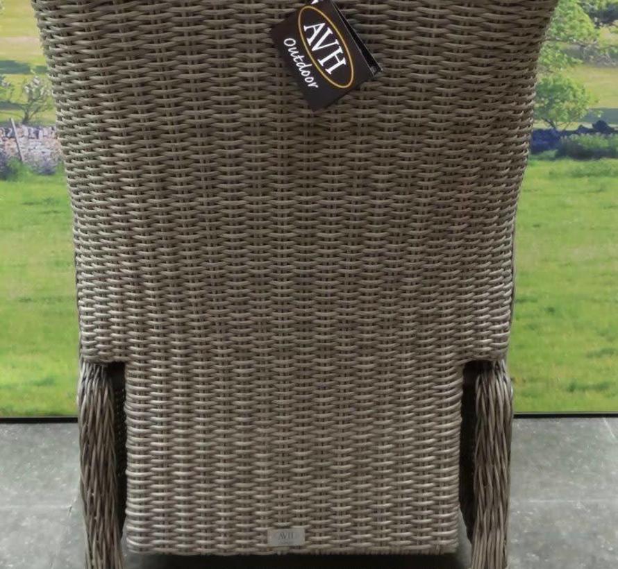 Darwin verstelbare dining tuinstoel grijs