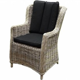 AVH-Collectie Darwin dining tuinstoel naturel rotan - suntech black