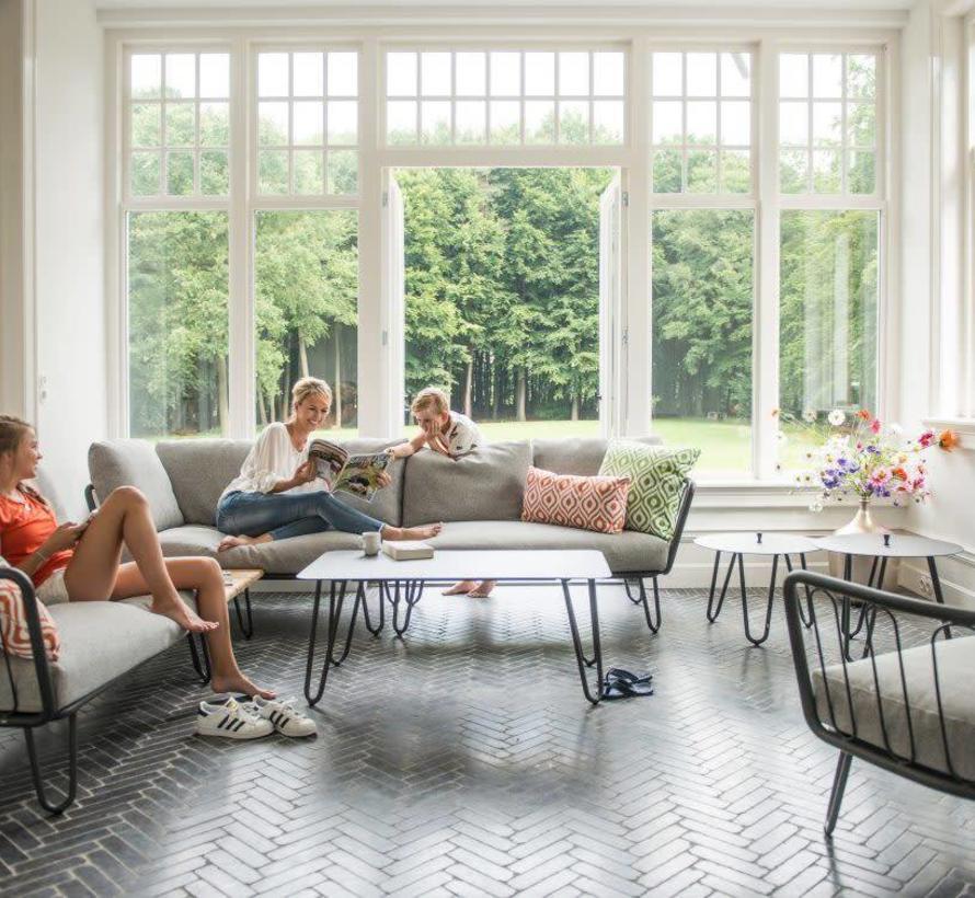 Cool lounge tuintafel 110x59xH45 cm aluminium antraciet 4-Seasons Outdoor