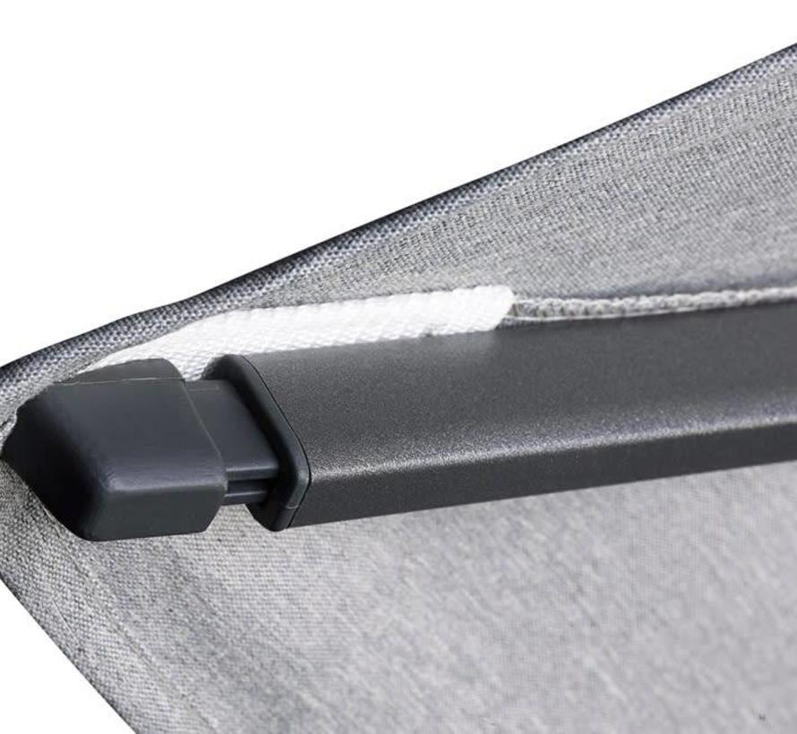 Challenger T2 premium zweefparasol 300x300 cm manhattan
