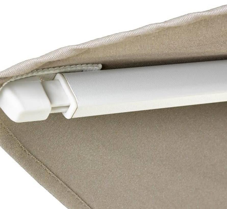 Challenger T2 premium zweefparasol 300x300 cm witte mast havanna