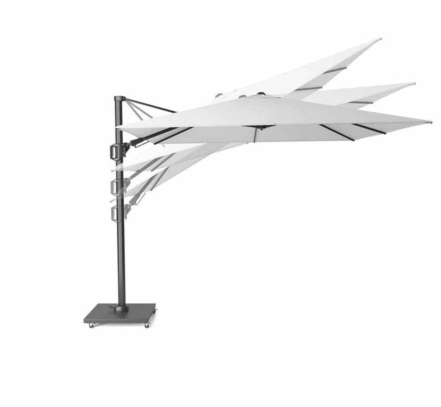 Challenger T2 premium zweefparasol 300x300 cm witte mast manhattan