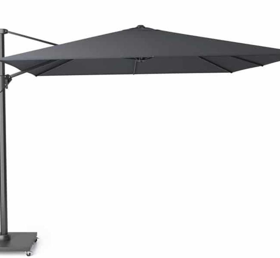 Challenger T2 zweefparasol 300x300 cm zwart