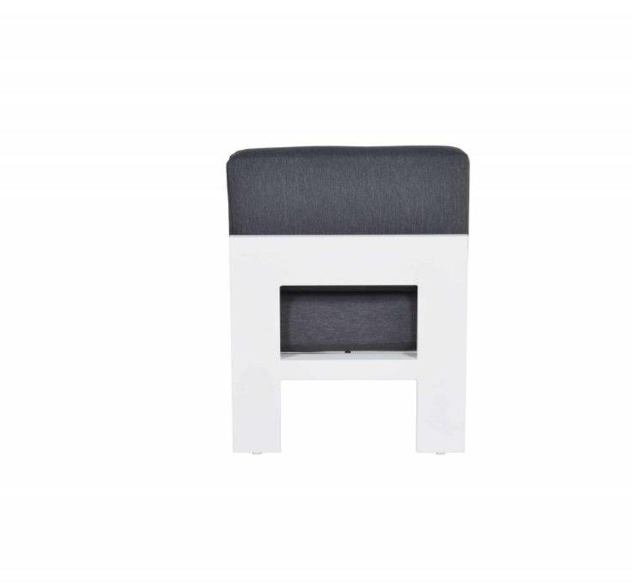 Cube middenelement aluminium wit