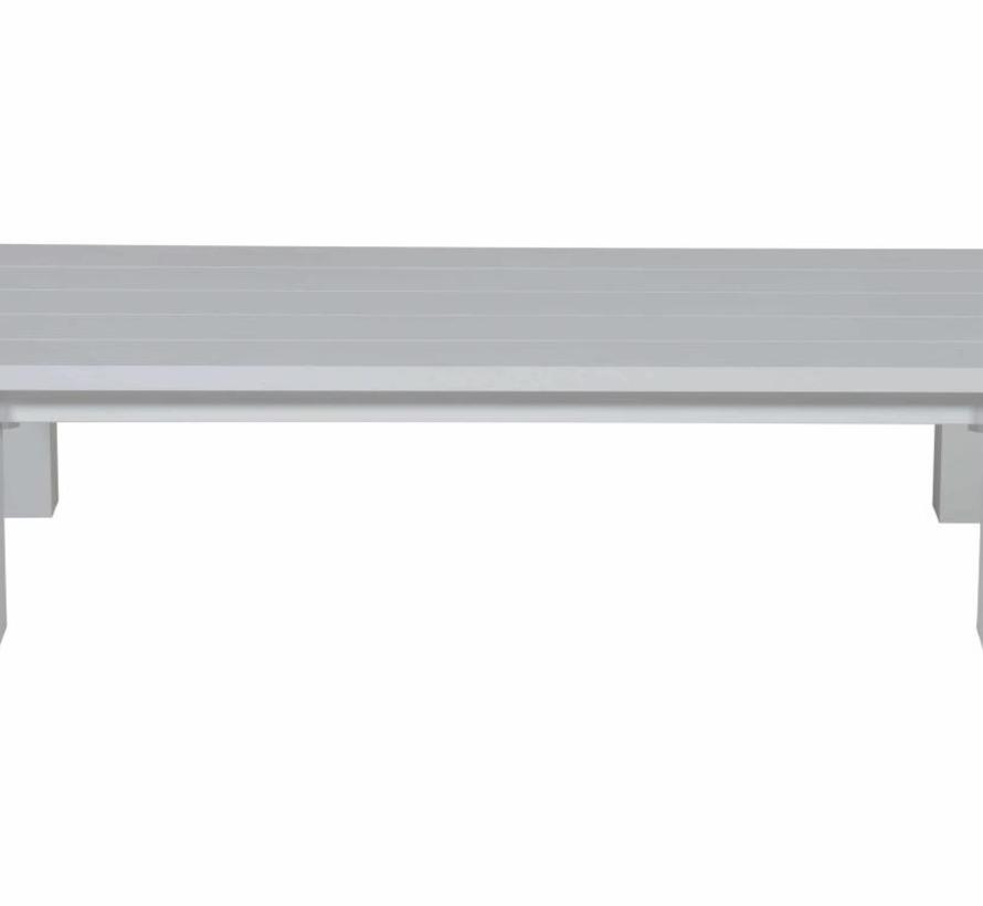 Cube lounge tuintafel 140x70xH40 cm aluminium wit