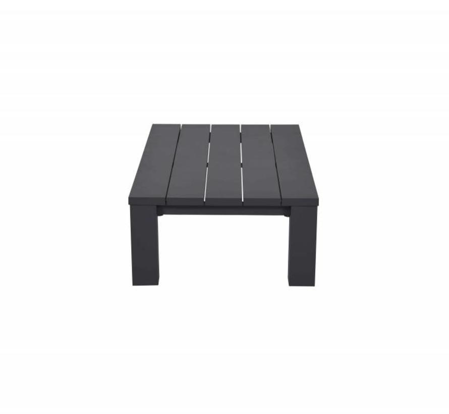 Cube lounge tuintafel 140x70xH40 cm aluminium antraciet