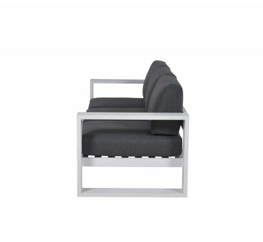 Cube 3-zitsbank aluminium wit