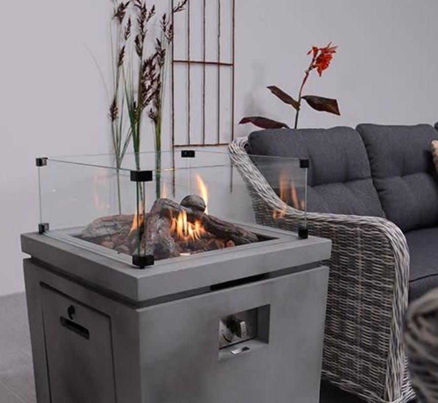Cozy Living sfeerhaard Lisboa 60x60xH62 cm grijs