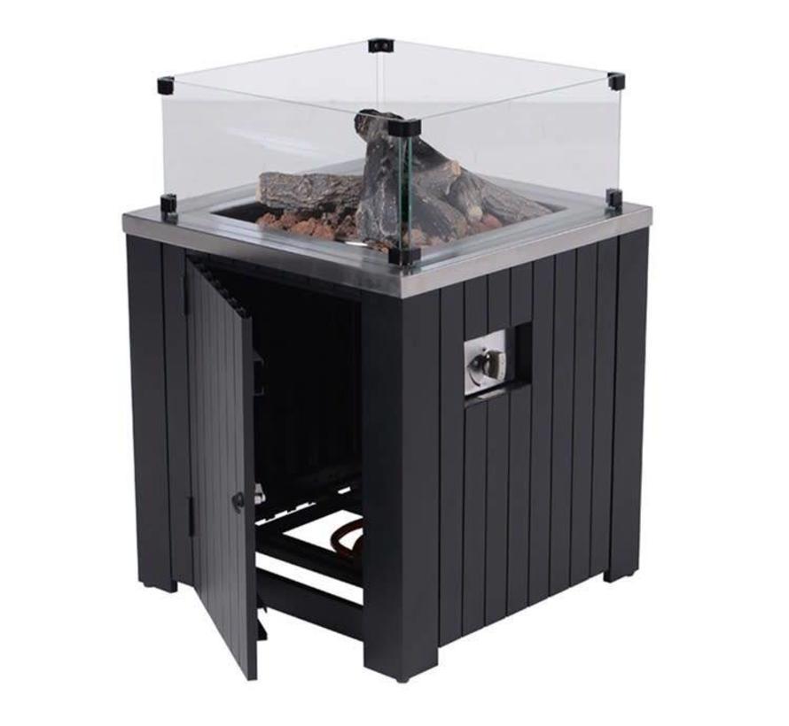 Cozy Living sfeerhaard Faro 60x60xH61 cm zwart