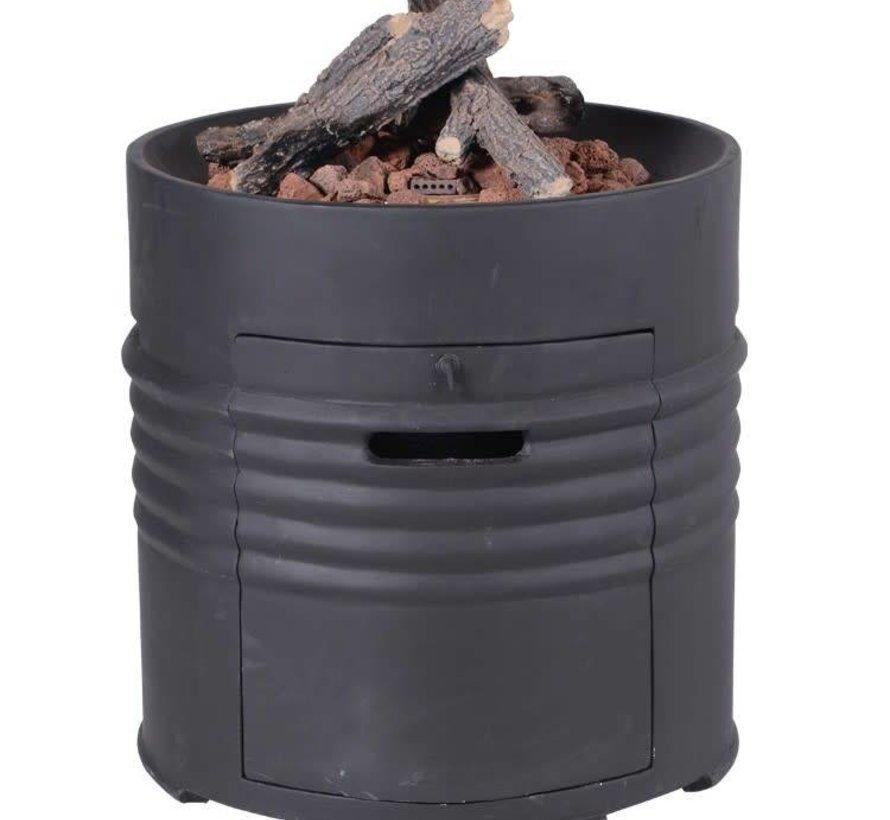 Cozy Living sfeerhaard Barrel 60xH62 cm rond zwart
