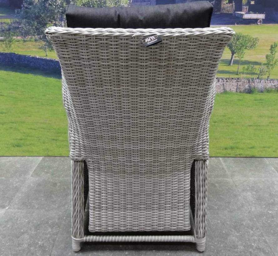 Ibiza XL dining tuinstoel verstelbaar wit grijs