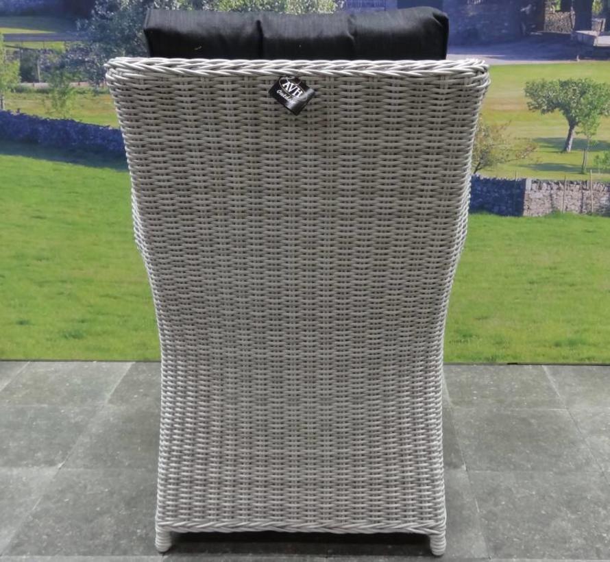 Ibiza XL dining tuinstoel wit grijs