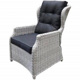AVH-Collectie Ibiza XL lounge tuinstoel verstelbaar wit grijs