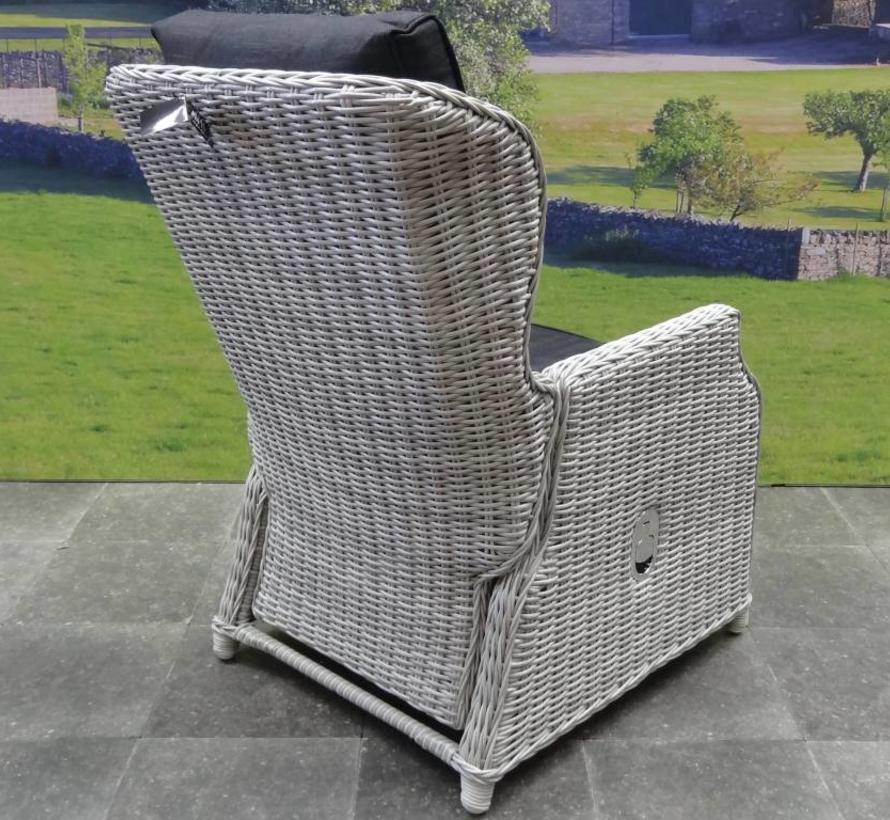Ibiza XL lounge tuinstoel verstelbaar wit grijs