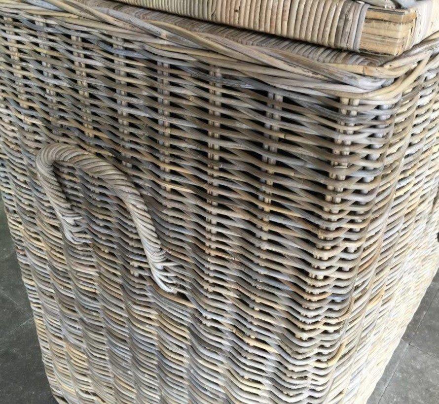 Kussenbox klein 135x35xH80 cm naturel rotan