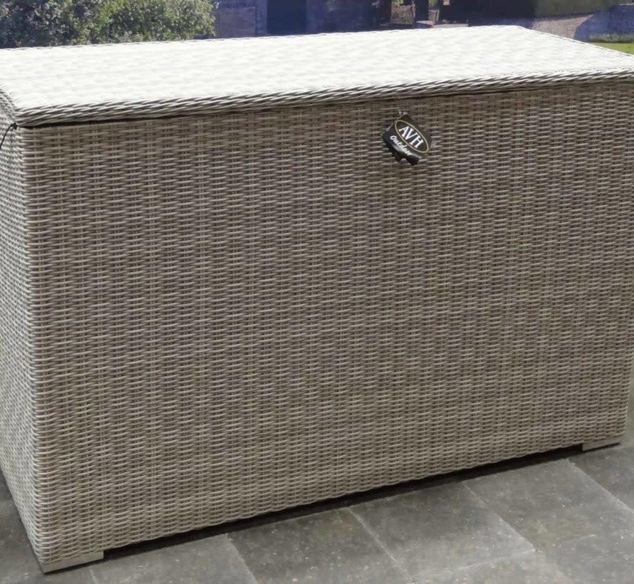 Kussenbox groot 167x70xH106 cm wit grijs