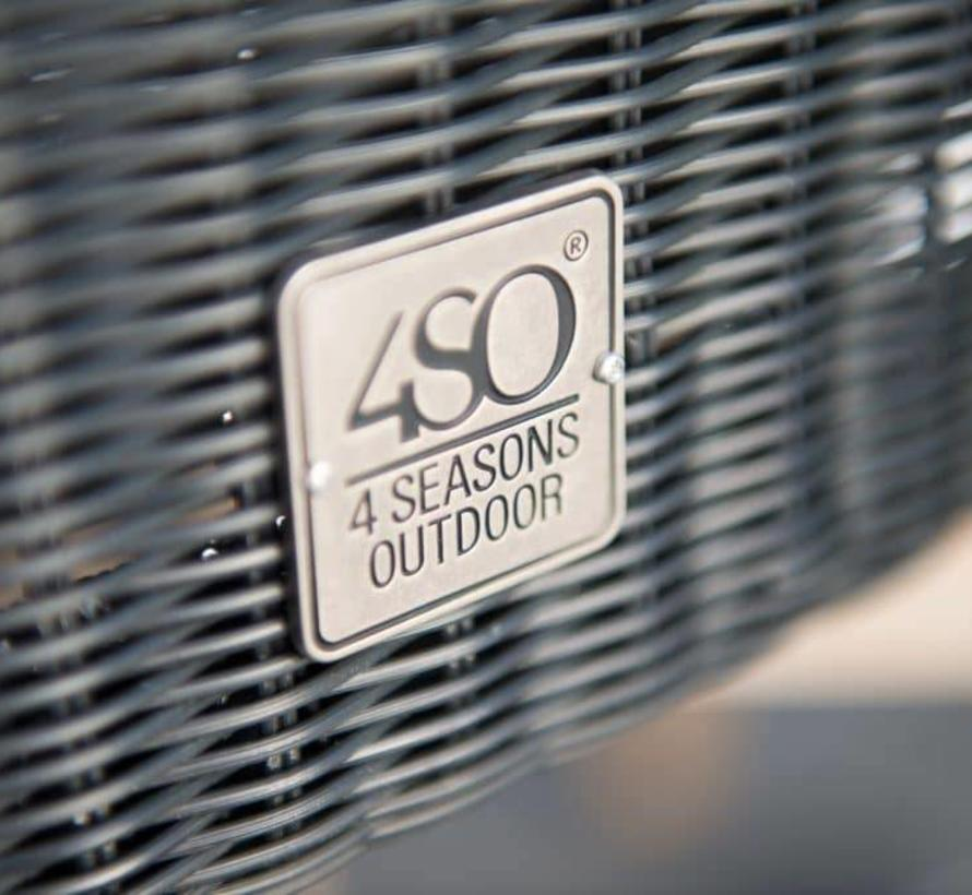 Lisboa dining tuinstoel polyloom antraciet – aluminium poten 4-Seasons Outdoor