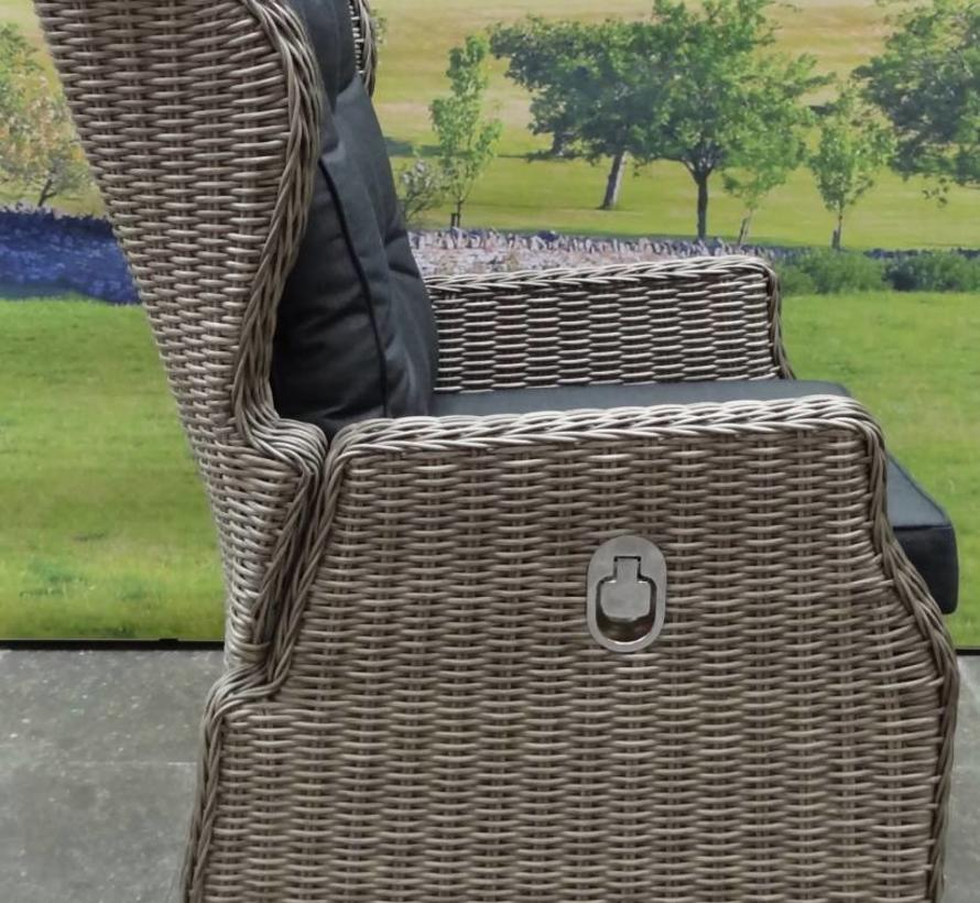 Ibiza lounge tuinstoel verstelbaar grijs