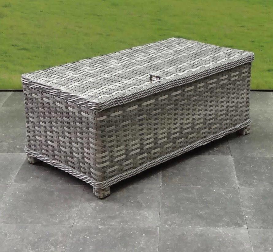 Kreta lounge tuintafel 105x57 cm grijs