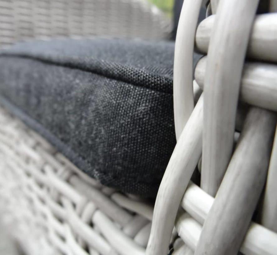 Menorca dining tuinstoel verstelbaar wit grijs