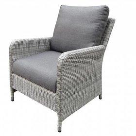 AVH-Collectie Miami lounge tuinstoel wit grijs