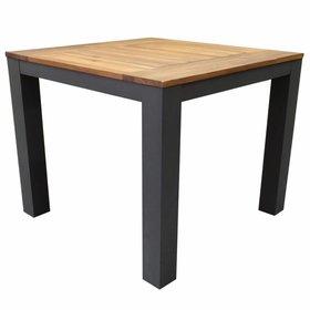 AVH-Collectie Beltra dining tuintafel 90x90xH76 cm aluminium antraciet