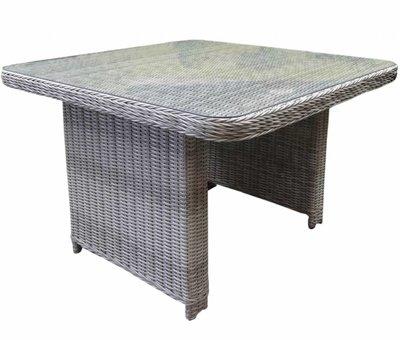 AVH-Collectie Bilbao lounge-diningtafel 110x110xH70 cm wit grijs