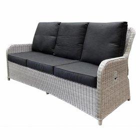AVH-Collectie Bilbao XL 3-zitsbank verstelbaar wit grijs