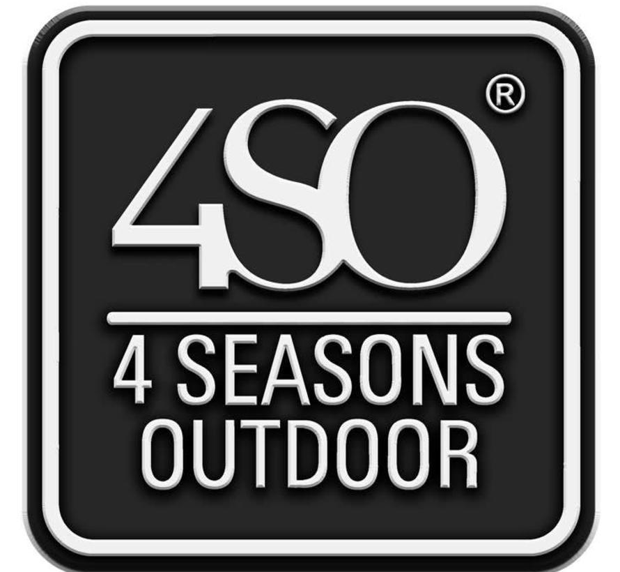 Madoera voetenbank Colonial 4-Seasons Outdoor