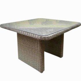 AVH-Collectie Bilbao XL lounge-diningtafel 110x110xH70 cm grijs