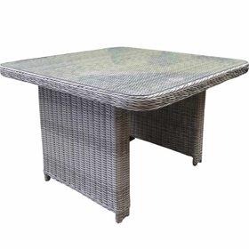 AVH-Collectie Bilbao XL lounge-diningtafel 110x110xH70 cm wit grijs