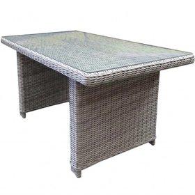 AVH-Collectie Bilbao XL lounge-diningtafel 140x80xH70 cm wit grijs