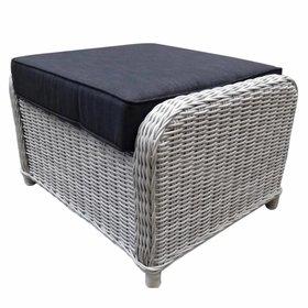 AVH-Collectie Bilbao XL voetenbank 72x59xH46 cm wit grijs