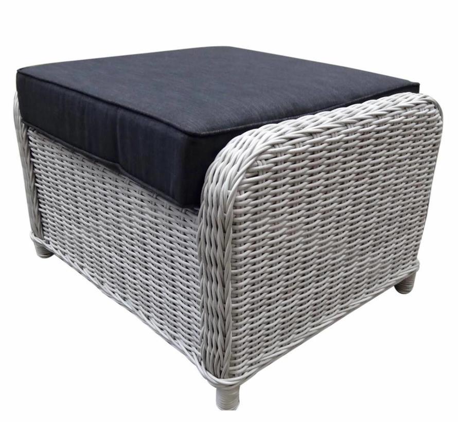 Bilbao XL voetenbank 72x59xH46 cm wit grijs