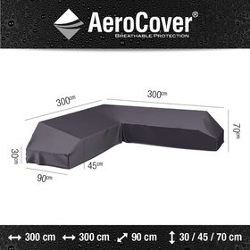 Aerocover Platform loungesethoes 300x300x90xH30/45/70 cm – AeroCover