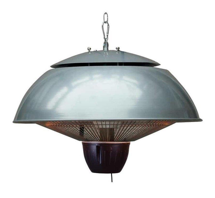 Warmtelamp Bordeaux hangende heater 43 cm – aluminium grijs