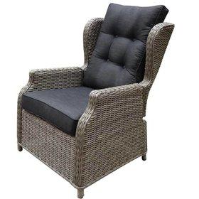AVH-Collectie Toscane XL lounge tuinstoel verstelbaar grijs