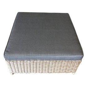 AVH-Collectie Ibiza voetenbank 92x92xH37 cm grijs