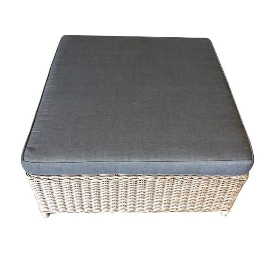 Ibiza voetenbank 92x92xH37 cm grijs
