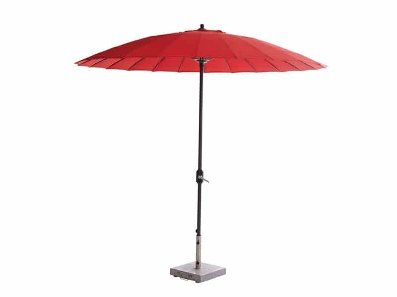 Manilla parasol 250 cm rond rood