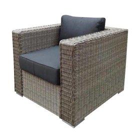 AVH-Collectie Matino lounge tuinstoel grijs
