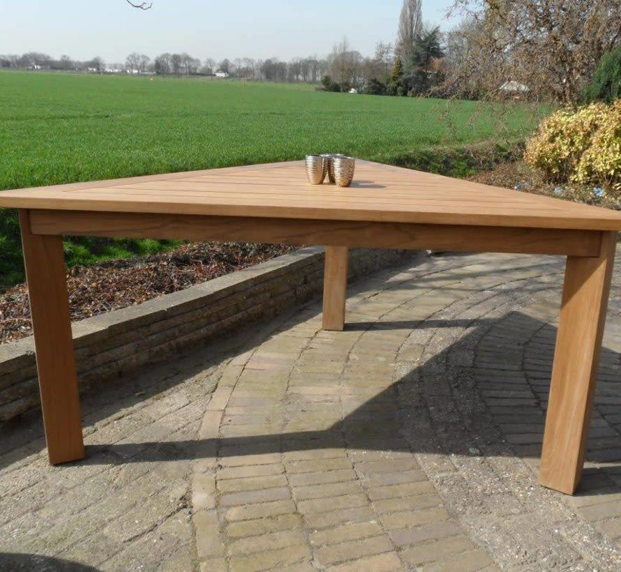 Old java dining tuintafel 200x200x200xH78 cm driehoek teak