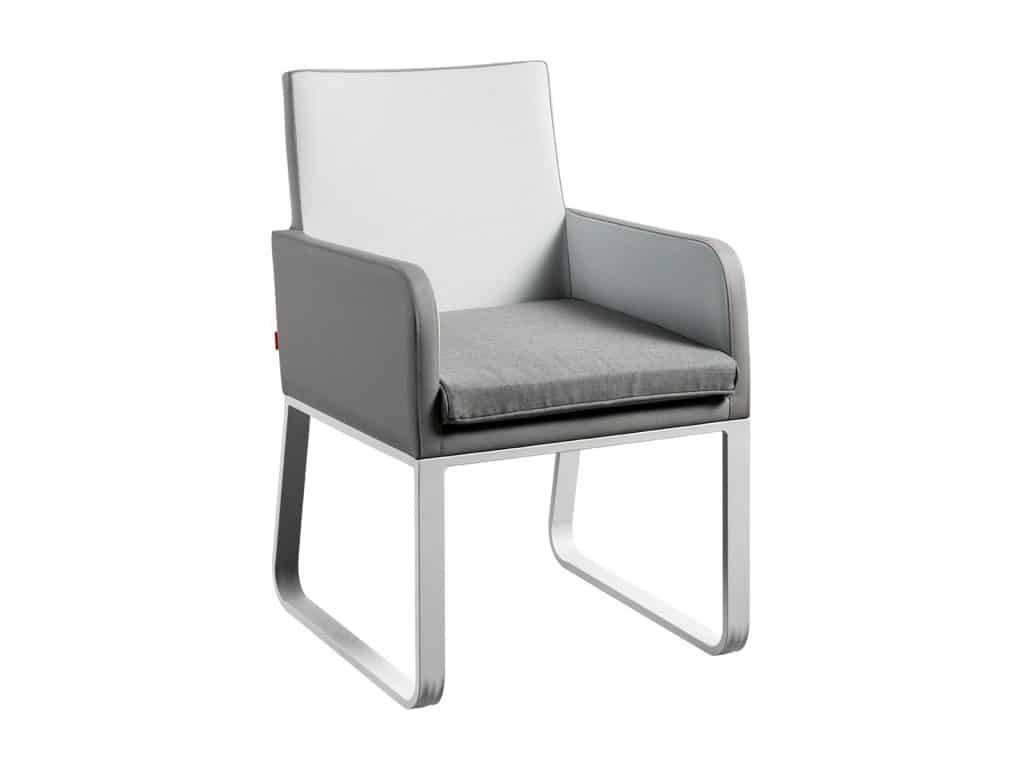 SUNS Cordoba dining stoel wit-grijs
