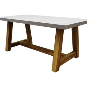 AVH-Collectie Veltis dining tuintafel 180x90xH77 cm acacia – polystone blad