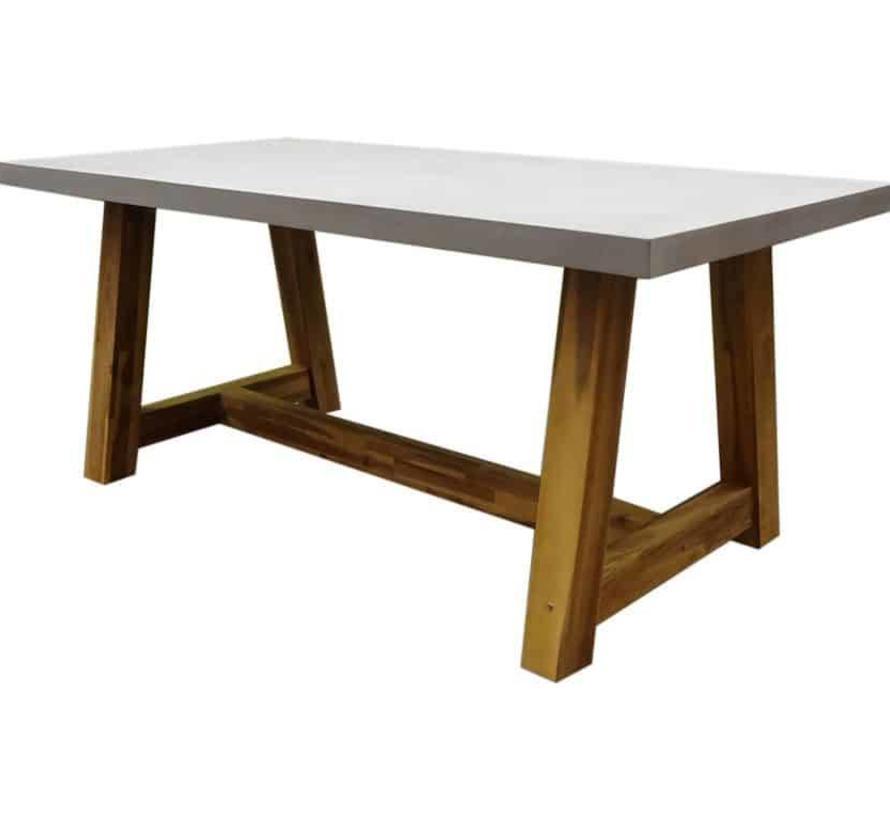 Veltis dining tuintafel 180x90xH77 cm acacia – polystone blad