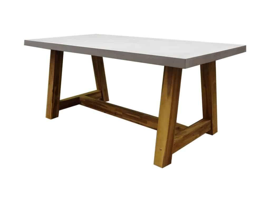 Veltis dining tuintafel 180x90xH77 cm acacia? polystone blad