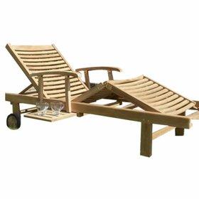 AVH-Collectie Comfort lounger ligbed verstelbaar teak