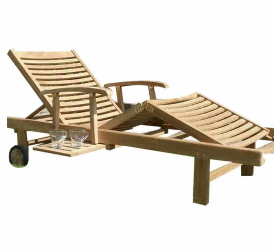 Comfort lounger ligbed verstelbaar teak