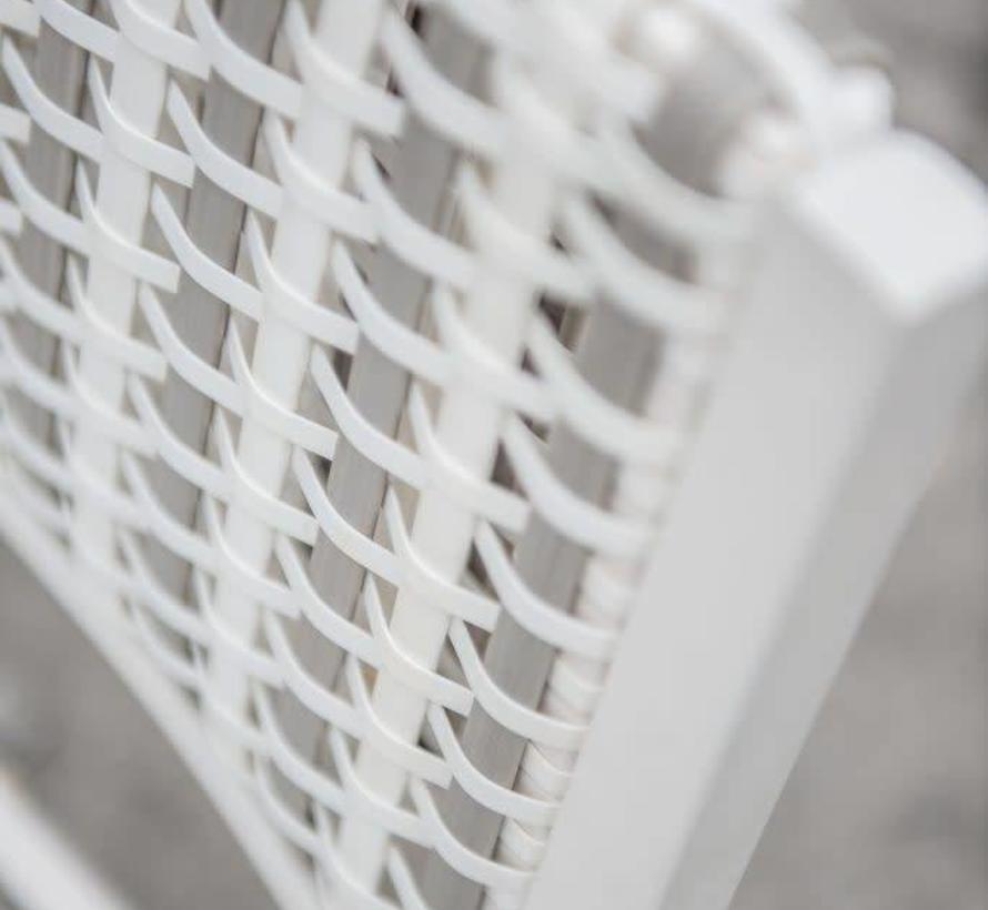 Piazza dining tuinstoel stapelbaar white latte 4-Seasons Outdoor