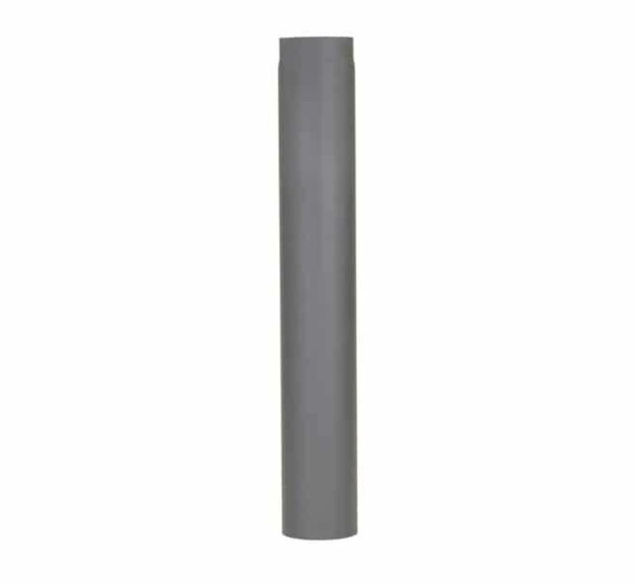 Rechte kachelpijp Ø 150 mm – lengte 1000 mm donker grijs